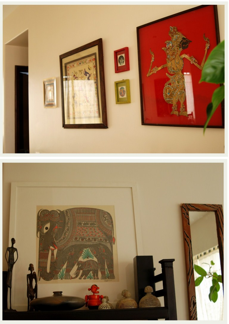 A home in bombay an indian summer - Wall sculptures for living room india ...